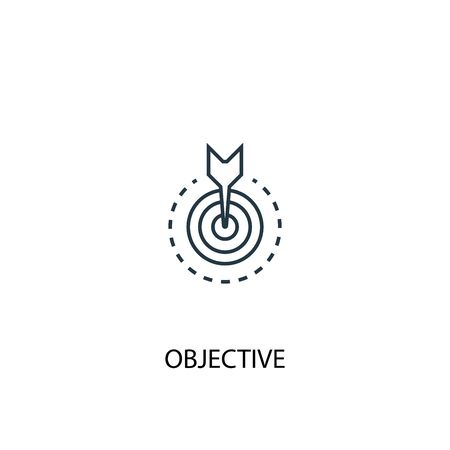objective concept line icon. Simple element illustration. objective concept outline symbol design. Can be used for web and mobile