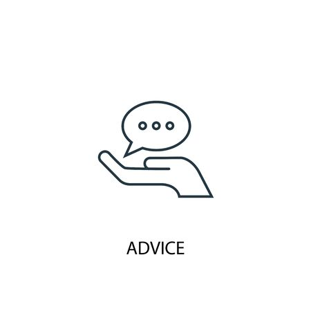 advice concept line icon. Simple element illustration. advice concept outline symbol design. Can be used for web and mobile