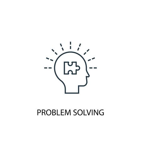 problem solving concept line icon. Simple element illustration. problem solving concept outline symbol design. Can be used for web and mobile Stock Illustratie