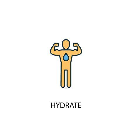 hydrate concept 2 colored line icon. Simple yellow and blue element illustration. hydrate concept outline symbol