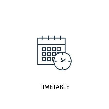 timetable concept line icon. Simple element illustration. timetable concept outline symbol design. Can be used for web and mobile