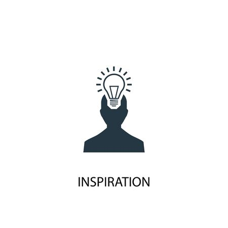 inspiration icon. Simple element illustration. inspiration concept symbol design. Can be used for web and mobile.  イラスト・ベクター素材