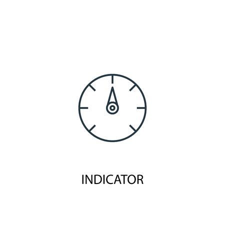 indicator concept line icon. Simple element illustration. indicator concept outline symbol design. Can be used for web and mobile UI