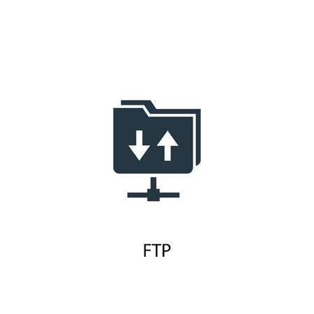 FTP icon. Simple element illustration. FTP concept symbol design. Can be used for web and mobile.