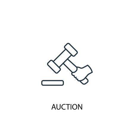 Auction concept line icon. Simple element illustration. Auction concept outline symbol design. Can be used for web and mobile