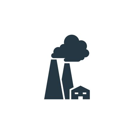Factory icon. Simple element illustration for web and mobile
