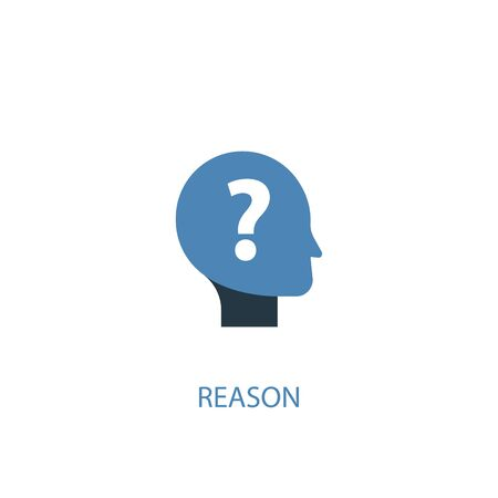 reason concept 2 colored icon. Simple blue element illustration. reason concept symbol design. Can be used for web and mobile