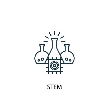 STEM concept line icon. Simple element illustration. STEM concept outline symbol design. Can be used for web and mobile