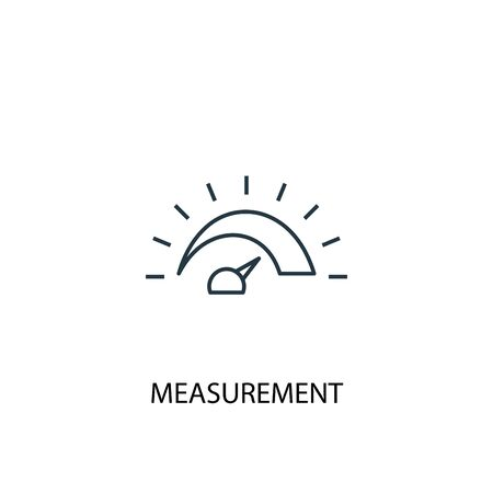 measurement concept line icon. Simple element illustration. measurement concept outline symbol design. Can be used for web and mobile