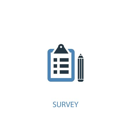survey concept 2 colored icon. Simple blue element illustration. survey concept symbol design. Can be used for web and mobile