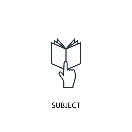 subject concept line icon. Simple element illustration. subject concept outline symbol design. Can be used for web and mobile 일러스트