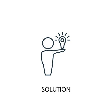 Solution concept line icon. Simple element illustration. Solution concept outline symbol design. Can be used for web and mobile