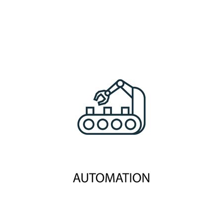 automation concept line icon. Simple element illustration. automation concept outline symbol design. Can be used for web and mobile UI
