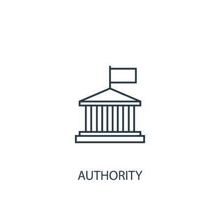 authority concept line icon. Simple element illustration. authority concept outline symbol design. Can be used for web and mobile Çizim