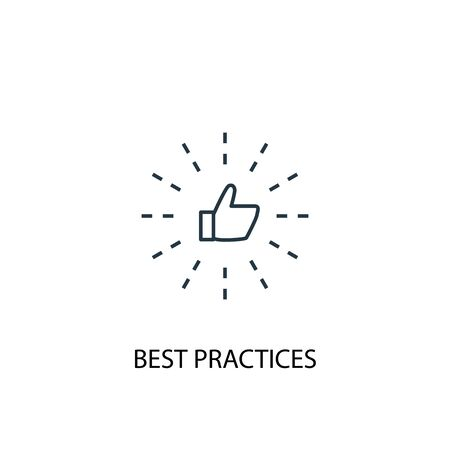 Best Practices concept line icon. Simple element illustration. Best Practices concept outline symbol design. Can be used for web and mobile