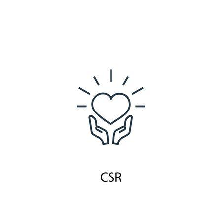 CSR concept line icon. Simple element illustration. CSR concept outline symbol design. Can be used for web and mobile