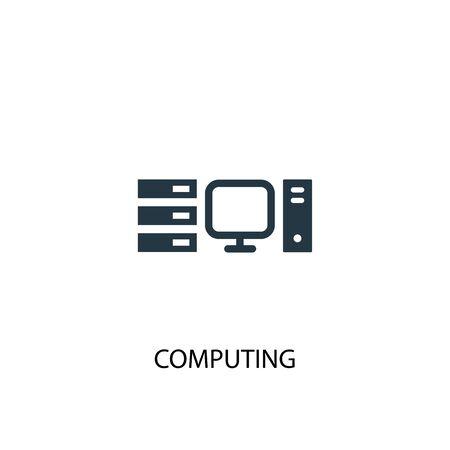 computer icoon. Eenvoudige elementenillustratie. computer concept symbool ontwerp. Kan gebruikt worden voor web en mobiel.
