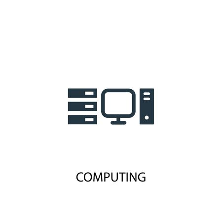 computing icon. Simple element illustration. computing concept symbol design. Can be used for web and mobile.