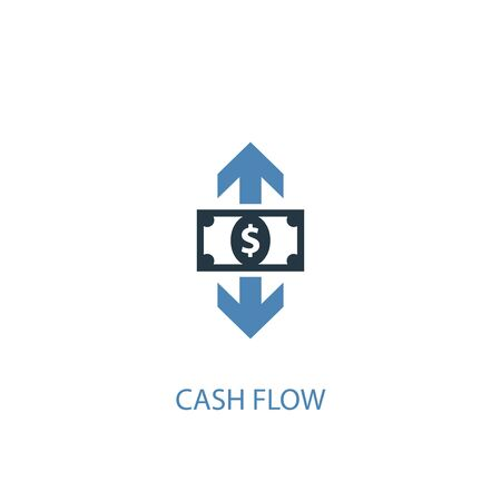 cash flow concept 2 colored icon. Simple blue element illustration. cash flow concept symbol design. Can be used for web and mobile UI