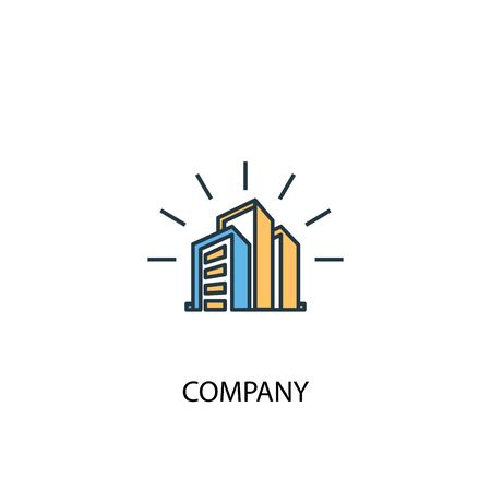 company concept 2 colored line icon. Simple yellow and blue element illustration. company concept outline symbol
