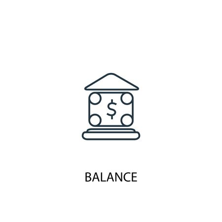 balance concept line icon. Simple element illustration. balance concept outline symbol design. Can be used for web and mobile 向量圖像