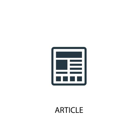 article icon. Simple element illustration. article concept symbol design. Can be used for web