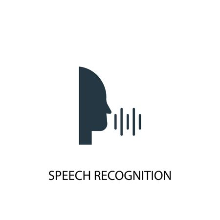 Speech Recognition icon. Simple element illustration. Speech Recognition concept symbol design. Can be used for web