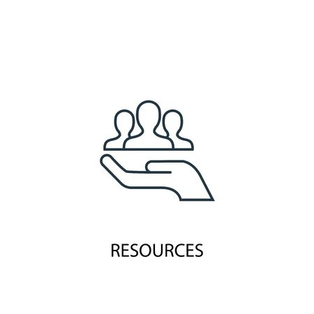 resources concept line icon. Simple element illustration. resources concept outline symbol design. Can be used for web and mobile