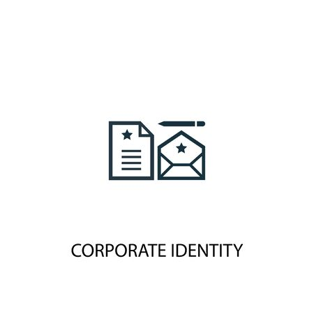 corporate identity icon. Simple element illustration. corporate identity concept symbol design. Can be used for web