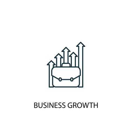 business growth concept line icon. Simple element illustration. business growth concept outline symbol design. Can be used for web and mobile UI