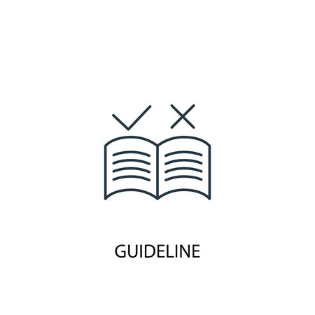 guideline concept line icon. Simple element illustration. guideline concept outline symbol design. Can be used for web and mobile