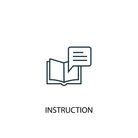 instruction concept line icon. Simple element illustration. instruction concept outline symbol design. Can be used for web and mobile Ilustrace