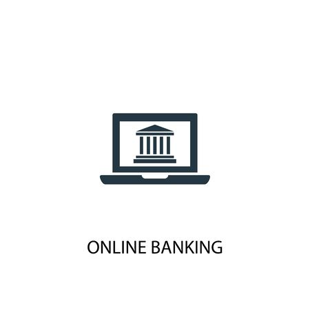 online banking icon. Simple element illustration. online banking concept symbol design. Can be used for web 向量圖像