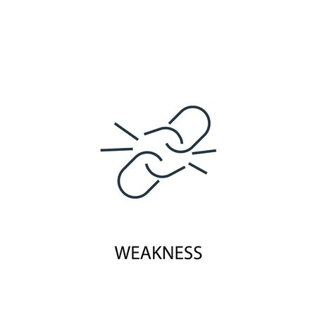 weakness concept line icon. Simple element illustration. weakness concept outline symbol design. Can be used for web and mobile