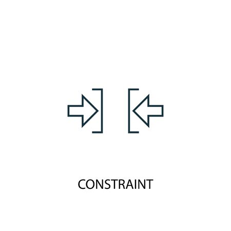 constraint concept line icon. Simple element illustration. constraint concept outline symbol design. Can be used for web and mobile