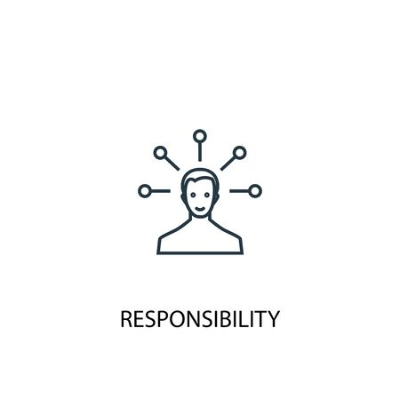 responsibility concept line icon. Simple element illustration. responsibility concept outline symbol design. Can be used for web and mobile Ilustrace