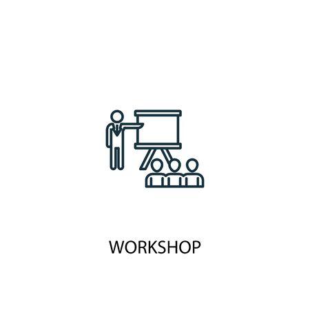 workshop concept line icon. Simple element illustration. workshop concept outline symbol design. Can be used for web and mobile