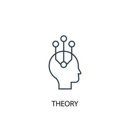 theory concept line icon. Simple element illustration. theory concept outline symbol design. Can be used for web and mobile