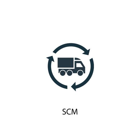 SCM icon. Simple element illustration. SCM concept symbol design. Can be used for web and mobile.