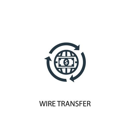 wire transfer icon. Simple element illustration. wire transfer concept symbol design. Can be used for web