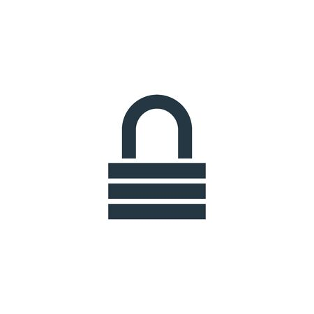 lock icon. Simple element illustration for web and mobile