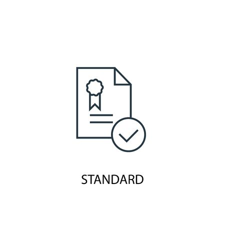 standard concept line icon. Simple element illustration. standard concept outline symbol design. Can be used for web and mobile