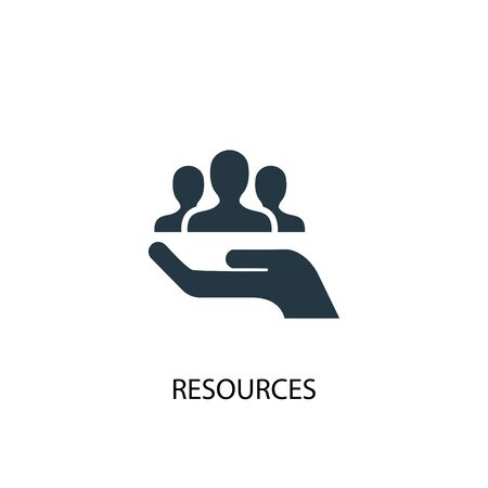 resources icon. Simple element illustration. resources concept symbol design. Can be used for web and mobile.