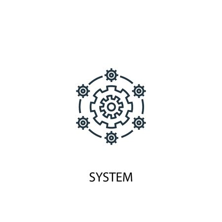 system concept line icon. Simple element illustration. system concept outline symbol design. Can be used for web and mobile  イラスト・ベクター素材