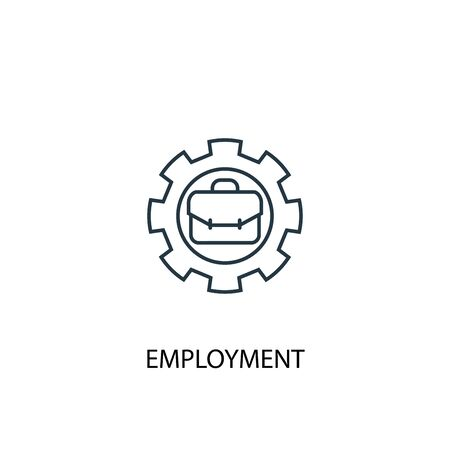 employment concept line icon. Simple element illustration. employment concept outline symbol design. Can be used for web and mobile