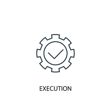 execution concept line icon. Simple element illustration. execution concept outline symbol design. Can be used for web and mobile