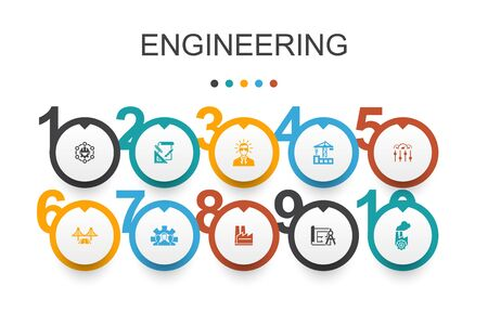 engineering Infographic design template.design, professional, System Control, Infrastructure simple icons Reklamní fotografie - 130148548