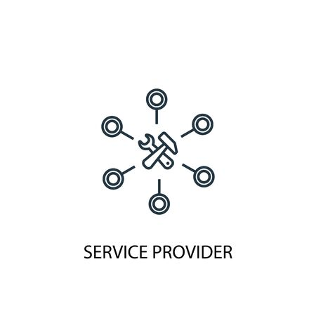 Service provider concept line icon. Simple element illustration. Service provider concept outline symbol design. Can be used for web and mobile