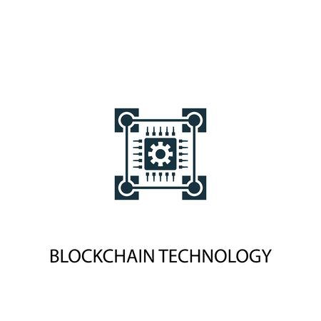 blockchain technology icon. Simple element illustration. blockchain technology concept symbol design. Can be used for web Foto de archivo - 130215912