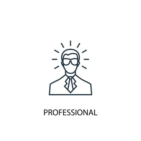 professional concept line icon. Simple element illustration. professional concept outline symbol design. Can be used for web and mobile Ilustracje wektorowe